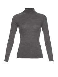 Alexander Wang Zip Detail Wool And Silk Blend Sweater