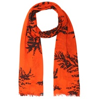 Whistles Fern Print Scarf Red