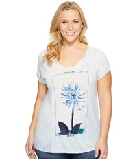 Lucky Brand Plus Size Dahlia Tee Skyway Women's T Shirt Blue