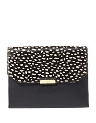Lauren Ralph Lauren Medium Mitford Shoulder Bag Black Spot Haircalf
