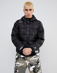 Aape By A Bathing Ape Reversible Padded Jacket With Hood Black