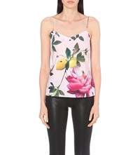 Ted Baker Citrus Bloom Crepe Camisole Pink