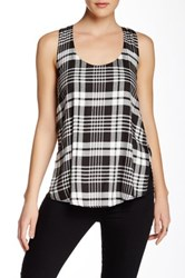 Shades Of Grey Woven Knotted Tank Multi