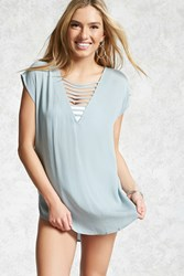 Forever 21 Ladder Cutout Cover Up Tunic