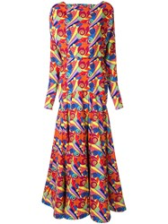 Manish Arora Abstract Print Maxi Dress Multicolour