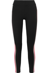 No Ka' Oi Ka'oi Kanawi Striped Stretch Leggings Black