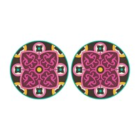 Images D'orient Set Of 2 Round Placemats Sejjadeh Urjuwan