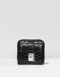 Morgan Mock Croc Purse Black