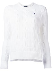 Polo Ralph Lauren Embroidered Logo Braided Detail Pullover White