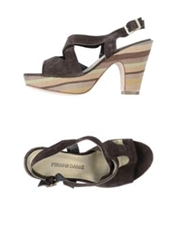 Pierre Darre' Platform Sandals Dark Brown