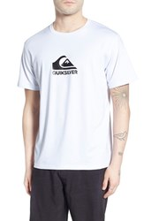 Men's Quiksilver 'Solid Streak' Short Sleeve Rash Guard