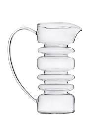 Ichendorf Rings Glass Pitcher Transparent