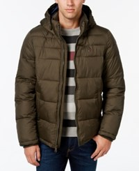 Tommy Hilfiger Men's Big And Tall Hooded Puffer Coat Black Black