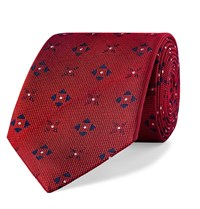 Turnbull And Asser 8Cm Silk Jacquard Tie Red