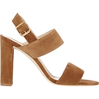 Manolo Blahnik Khan Double Strap Sandals Beige Tan