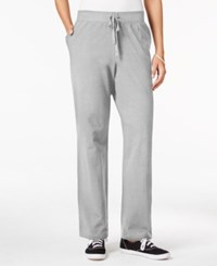 Karen Scott Petite Drawstring Active Pants Only At Macy's Smoke Grey