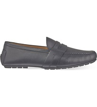 Ralph Lauren Hayward Leather Penny Loafers Black