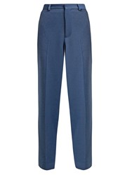 Raey Brushed Twill Trousers Blue