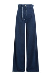 Natasha Zinko High Waisted Flared Jeans Blue