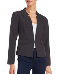 Ellen Tracy Fitted Blazer Grey