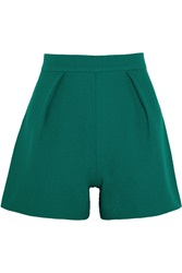 Mother Of Pearl Nyos Wool Crepe Shorts Green