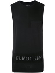 Helmut Lang Branded Tank Top Men Cotton Modal L Black