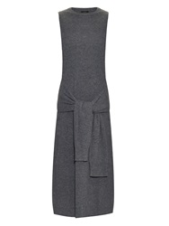 Joseph Tie Waist Merino Wool Dress