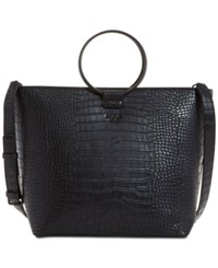 Guess Keaton Crescent Extra Large Tote Black