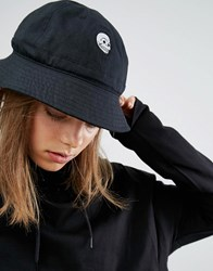 Cheap Monday Bucket Hat In Black Cotton Canvas Black