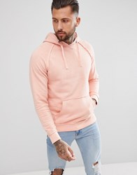 Blend Of America Oversized Washed Pink Hoodie 73837 Rose Red
