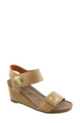 Taos Women's 'Carousel 2' Wedge Sandal Taupe Leather