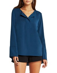 Bcbgeneration Solid Long Sleeve Top Stormy Sea