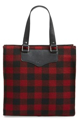 Ugg 'Muir' Buffalo Check Tote Black Red