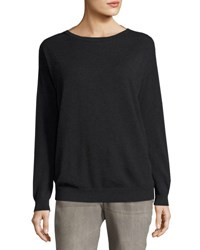 Brunello Cucinelli Monili Back Cashmere Sweater Black