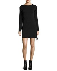 Mcq By Alexander Mcqueen Long Sleeve Lace Up Mini Dress Black
