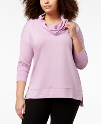 Ideology Plus Size Cowl Neck Top Created For Macy's Lilac Petal Heather