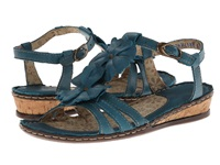 Lobo Solo Abby Blue Leather Women's Sandals