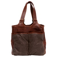 Moore And Giles Belle Picnic Tote Nubuck Bison Tan