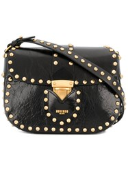 Moschino Studded Satchel Bag Black