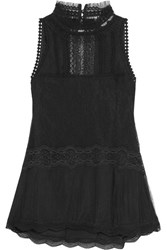 Jonathan Simkhai Lace And Tulle Top Black