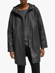 Eileen Fisher Hooded Coat Black