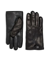 Ugg Leather And Faux Fur Gloves Black