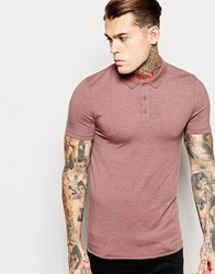 Asos Extreme Muscle Fit Polo Shirt In Stretch Jersey Rustmarl