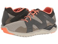 Merrell Isix8 Mesh Lace Aluminum Women's Shoes Gray