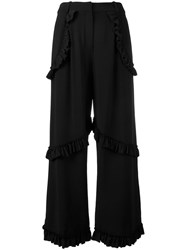 Simone Rocha Rouched Trousers Black