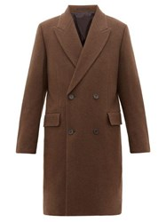 The Row Mickey Double Breasted Yak Coat Brown