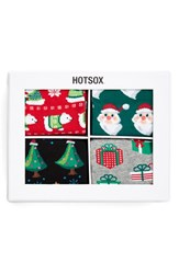 Women's Hot Sox Christmas Boxed Socks 4 Pack