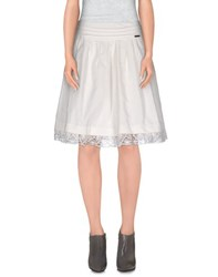 Galliano Skirts Knee Length Skirts Women White