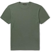 Tom Ford Lyocell And Cotton Blend Jersey T Shirt Green