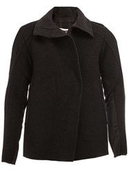 A New Cross Concealed Fastening Jacket Black